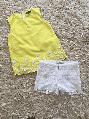 M&S Autograph Summer Outfit - Shorts&Top/ T Shirt Age 6-7 Years