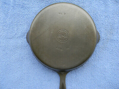 #9 GRISWOLD, cast iron skillet, small logo,pn 710 F, EX, Cond.,NR!