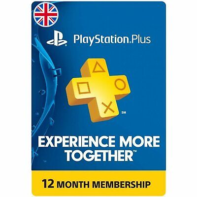 Sony PlayStation PSN Plus 12 Month 365 Days Subscription UK CODE FAST DELIVERY,