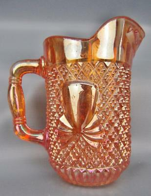 Sowerby PINEAPPLE Foreign (English) Marigold Carnival Glass Creamer 5775