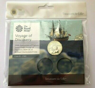 NEW & SEALED 2019 Captain James Cook 250th Anniversary £2 coin BUNC Royal Mint