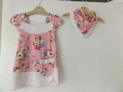 Next pretty top with matching head scarf aged 3-4 Years