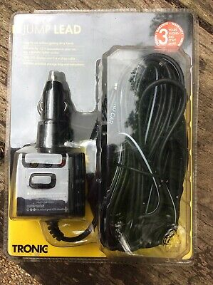 TRONIC Jump Lead Cigarette Lighter 12V Connection LED display 5.4m Drop Cable