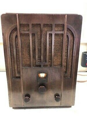 Absolutely Stunning Westinghouse WR22 Tombstone Antique Working Radio Great Case