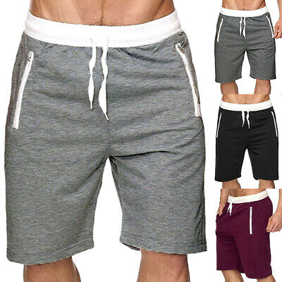 Mens Sports Shorts Summer Casual Jogging Gym Pants Running Short Sweat Trousers
