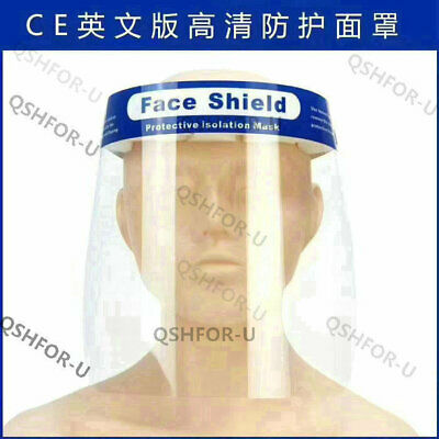 10 x Safety Full Face Shield Reusable Washable Protection Cover Mask Anti-Splash