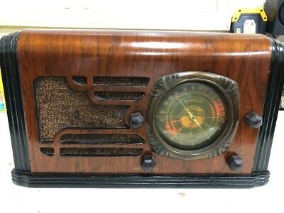 Very Rare and Stunning Mission Bell Model 45 Antique Deco Radio, Beautiful Dial