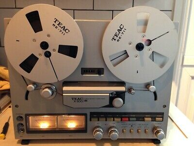 """Pair of TEAC RE 711 metal reels 7"""" boxed in great condition"""
