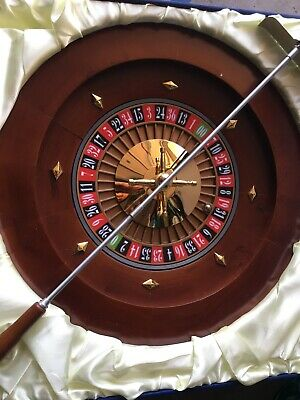 "Roulette wheel 16"" solid wood w/accessories by Loria Awards Lot #5008"
