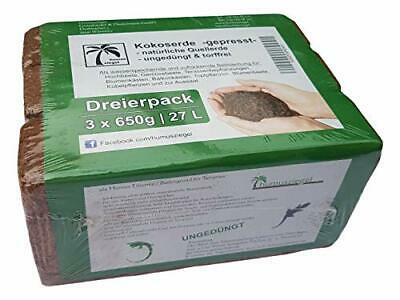 Humusziegel Pressed Coco Coir Planting Soil - Natural Coco Soil for Plants -