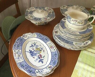 Alfred Meakin Meadow Fine Bone China Dinner Set, Serving Dishes &  Serving Plate