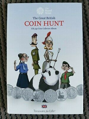 Official Royal Mint 50p Great British Coin Hunt Album Complete with Kew Gardens