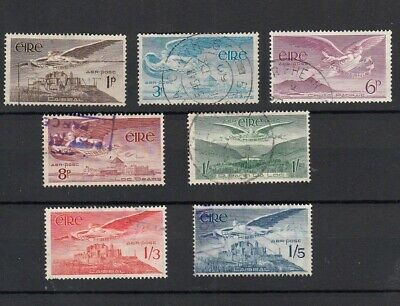 Ireland 1948-1965 Full Set Of Airmail Stamps (Winged Angel Types)