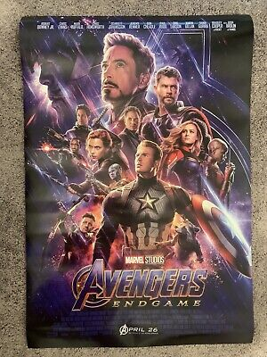 Avengers: Endgame Theatrical Original Double Sided One Sheet 27x40 Movie Poster