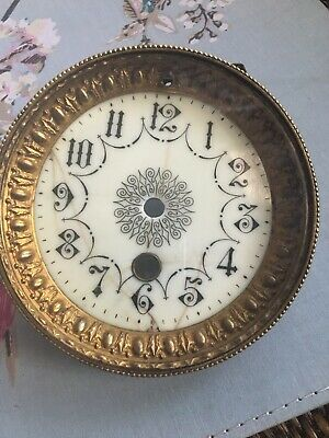 Antique French Clock Bevelled Glass Enamel Dial Grommet Repairs (G)