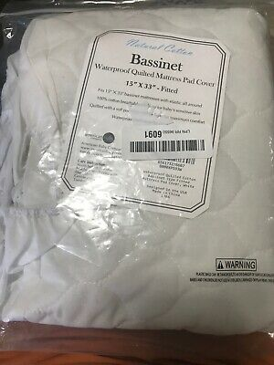 American Baby Waterproof Quilted Cotton Bassinet Fitted Mattress Pad  [EC-973]