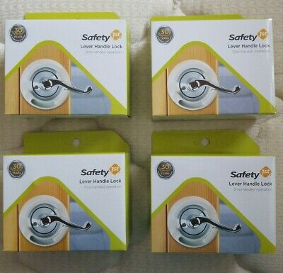 Lot 4 Safety 1st Lever Handle Lock #48400 (One Hand Operation) Baby Proofing