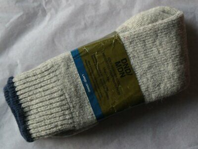 Vintage Deadstock DND/MDN Cold Weather Sock Made in Norway Grey / Blue Large