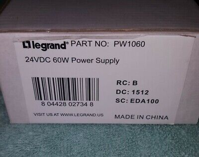 Legrand PW1060 24VDC  Power Supply New Old Stock