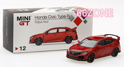 Mini GT 1:64 2017 Honda Civic Type R FK8 LHD Crystal Black Chase Car MGT000015
