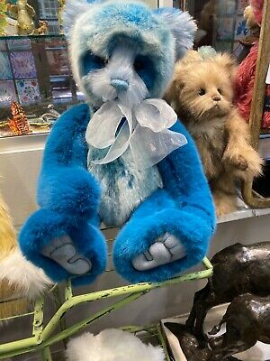 Ollibobs Charlie Bear new with tags 19 inch Teal Panda from Stockist NWT