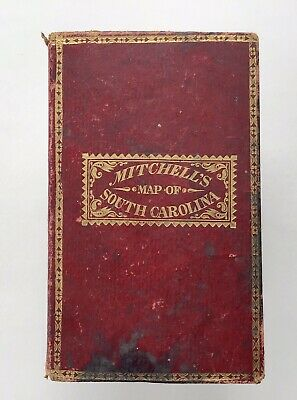 1835 Mitchell's Tourist Pocket Map of South Carolina, Stage Coach Routes, etc