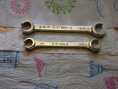 Vintage S-K Tools Line Wrenches.