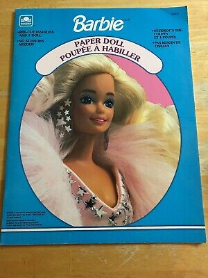 Barbie Paper Doll Pre Cut Fashions Uncut Golden Books New 1991 1537-3 Mattel