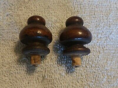 Antique Wood Finial Furniture or Clock Embellishment 2