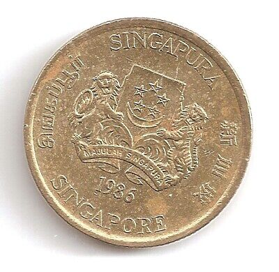1986 Singapore 5 Cents Coin
