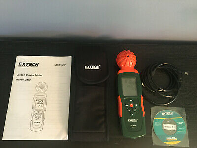 CO240 Extech Indoor Air Quality, Carbon Dioxide (CO2) Meter w/software, cable
