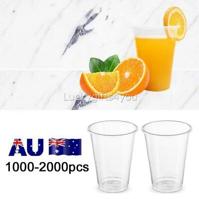 1000-2000X Disposable Plastic Cups Clear Reusable Drinking Water Cup Party 200ml
