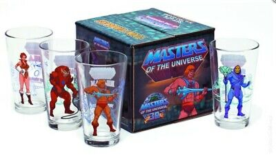 VERY RARE 2011 Masters Of The Universe Toon Tumbler Glass Lot 4 NEW IN BOX MOTU