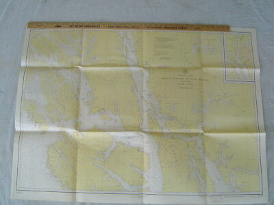 1942 U S Coast and Geodetic Chart Naval Map ALASKA Midway Islands 2 Cape Spencer