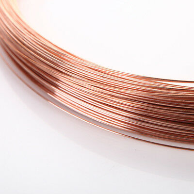 1m x 0.2-2mm Thick Copper Wire Wirework Tiara DIY Beading Jewellery Making Home
