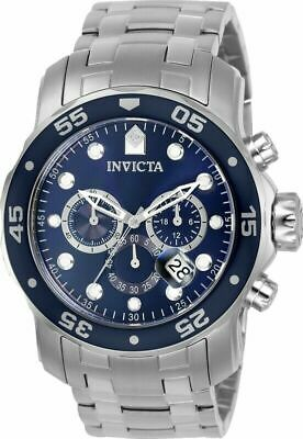 Invicta Men's Watch Pro Diver Blue and Silver Tone Dial Chrono Bracelet 0070