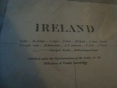 Antique Steel Engraved Map Of Ireland 1864