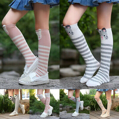 Baby Kids Toddlers Girls Knee High Socks Tights Leg Warmers Stockings Free Size