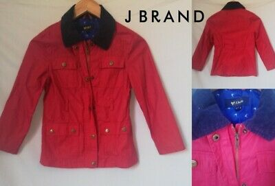 Exc With Defects J Jeans At Debenhams Kids Girls Red Jacket Coats Size 8-9 Yrs