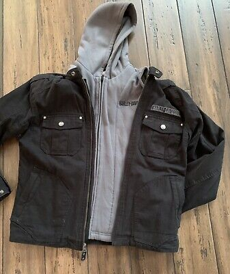 Harley Davidson Willie G Skull  Jacket With Removable Hoodie Excellent
