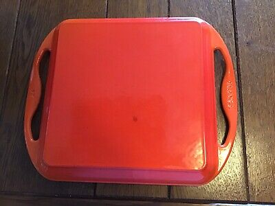 le creuset cast iron orange Grill Pan