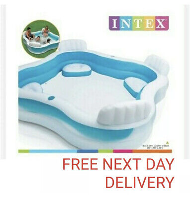 Intex Inflatable Swimming Pool Family lounge Large Paddling Swimming Seat Pool
