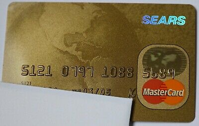 Expired 03/2005 Sears National Bank Master Card Credit Card Mint