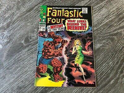 Fantastic Four #66 High Grade 1967 Origin of Him Jack Kirby Cover See Pics