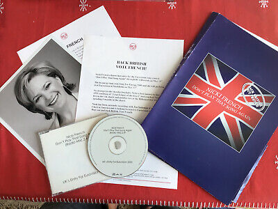 Press Pack Nicki French + Promo CD Single Eurovision Song Contest 2000