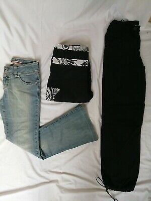 LOT de 3 vêtements 38 femme fille ado pantalon jean's Lee Cooper bas large