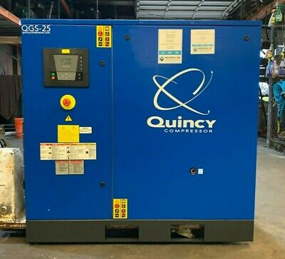 25Hp Air Compressor, Quincy Screw Compressor #1338
