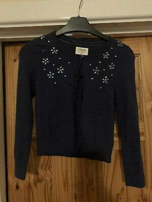 Jasper Conran Girls Age 8-9 Navy Blue Jewel Cardigan