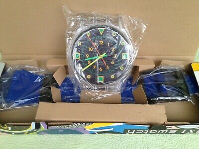 "Vintage 1988 Swatch Maxi Wall Clock - ""Bondi Diver"" Gk115 New!"
