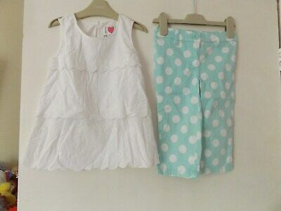 Next lovely summer girls outfit / set top and 3/4 trousers aged 4-5 Years